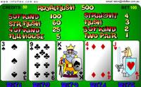 Escolha uma aposta (bet), carregue sobre acordo (deal) e decida qual quer manter.
