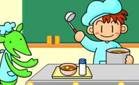 Neste jogo de restaurantes podes servir alguma saborosa sopa aos teus clientes. Coloca a tigela no trilho, enche-a de sopa e serve-a ao cliente correcto.