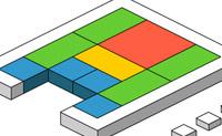 Reordene as peças de modo a permitir a saída da vermelha para fora.