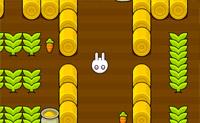 Mova o coelho pelo jardim, ajude-o a recolher as cenouras e evite os perigos!