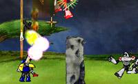 Foram avistados robôs a destruir o campo. Ajude o Robo Slug a travá-los.