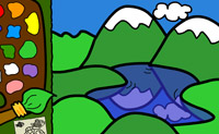 Tente colorir este desenho animado da maneira mais bonita que conseguir!