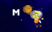 Ajude a Olie a apanhar as estrelas cadentes e a recolher as letras por ordem.