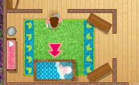 Recolha todas as chupetas do beb� e volte para o quarto antes do fim do jogo.