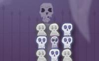 Tente formar filas de 3 cr�neos iguais para os remover da �rea de jogo.