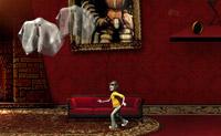 Saia desta aterradora casa assombrada, usando os diferentes objectos.