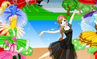 Escolha um lindo vestido para esta bailarina.