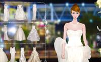 Escolha o vestido mais romântico para esta linda noiva.