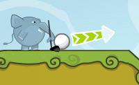 Vais jogar golfe. Utiliza a força e direcção correctas para colocar a bola no buraco numa tacada.