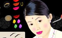 Ponha alguma maquilhagem a esta bela modelo coreana.
