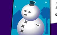 Vista o boneco de neve, decore a árvore e coloque estrelas no Pai Natal!