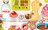 Use a m�quina de chocolates para ajudar a Sue a fazer o maior n�mero de doces!