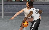 Joga um jogo divertido de basquetebol um contra um. Podes ser tu próprio a vestir e a dar forma aos jogadores.