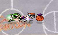 Vais jogar basquetebol com os bonecos dos desenhos animados de