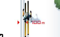 Achas divertido fazer esqui nórdico? Então joga este jogo de esqui nórdico, onde também tens de atirar em círculos vermelhos.