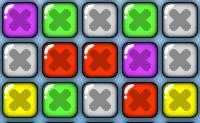 Posicione as filas de forma a criar grupos de 4 ou mais quadrados da mesma cor.
