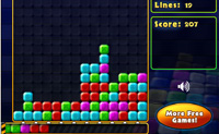 Faça explodir os grupos com 3 ou mais blocos da mesma cor.