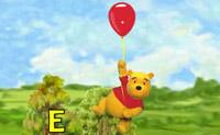 Ajude o Winnie a recolher todas as letras da palavra que surge à direita.