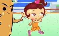 Ajude esta boneca a saltar sobre a corda o maior número de vezes que conseguir!