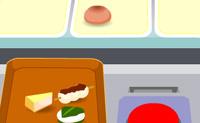 Distribua a comida de modo a haver o mesmo número de alimentos nos tabuleiros.