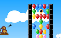 Rebente o maior número de balões que conseguir com os dardos fornecidos.