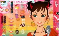 Vista esta princesa para uma assustadora festa de Halloween (Dia das Bruxas).
