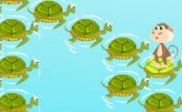 Salte sobre as tartarugas e afunde-as para somar pontos.