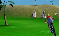 Conduz numa ilha engraçada e faz diversas acrobacias com a tua bicicleta! Clica em NEXT para jogar! (fica na parte inferior direita do ecrã!)