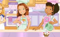 Ajuda estas três raparigas a decorar os bolinhos!