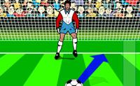 Atira a bola à baliza e tenta meter a bola lá dentro! Tens 5 oportunidades, faz o teu melhor para bateres inteligentemente o guarda-redes!