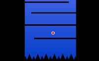 Guie o pontinho vermelho até ao grande, evitando tocar nas paredes pretas.