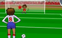 Neste jogo de futebol podes escolher entre 3 Campeonatos do Mundo. O objectivo é acertar na estrela na baliza.