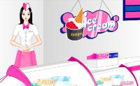 Ajude estas duas simpáticas funcionárias a decorar a sua gelataria!