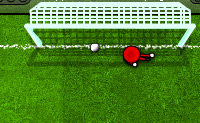 Chuta a bola à baliza! A seguir vai para a baliza e tenta defender a bola do teu adversário.