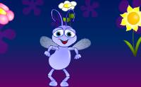 Clique nos botões, escolha os movimentos e veja os insectos dançar!