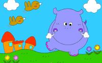 Este simpático hipopótamo quer ser pintado. Pode ajudá-lo?