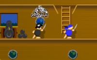 Guie o capitão e a sua equipa por este labirinto, tentando alcançar o objectivo.