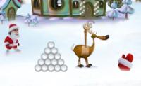Hordas de duendes e outras criaturas estão a caminho da casa do Pai Natal. Tenta mantê-los à distância atirando bolas de neve contra elas!