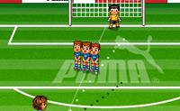 Free Kick Mania é um jogo de futebol em que tens de dar chutos livres. Tens em conta a direcção do vento?