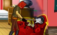 Destrua os objectos assinalados na sala, mas tenha cuidado com a pol�cia.