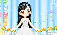 Escolha o melhor vestido de noiva para esta boneca.