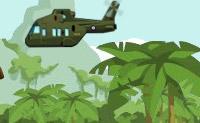 Vais com um helicóptero numa zona de guerra salvar pessoas. Tem atenção aos mísseis, porque estes seguem o teu helicóptero.