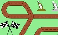 Pinte estes Porsches telecomandados e a pista onde eles vão correr.