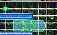 Conduza a sua bola magnética até à saída. As vermelhas atraem, as azuis não.