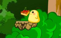 Ajude o seu amigo amarelo a chegar ao bolo de que ele tanto gosta.