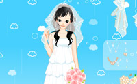 Esta princesa precisa de escolher um vestido de noiva. Ajude-a.