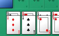 Mova todas as cartas da base para as várias filas, formando sequências.