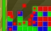 Elimine os quadrados, clicando num que tenha 2 ou mais da mesma cor agregados.