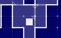 Neste jogo de l�gica com labirintos, tem de guiar o bloco branco at� � cruz.