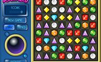 Movimente as jóias por forma a juntar 3 ou mais da mesma forma e cor!